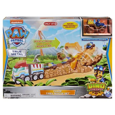 PAW PATROL CHASE T-REX RESCATE CON VEHICULO