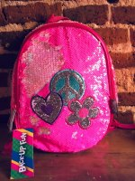 Mochila De Jardín Lentejuelas Reversibles 13 Back Up Fun ROSA CHICLE marca